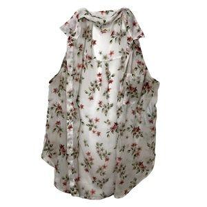 Hollister Floral Chiffon Blouse